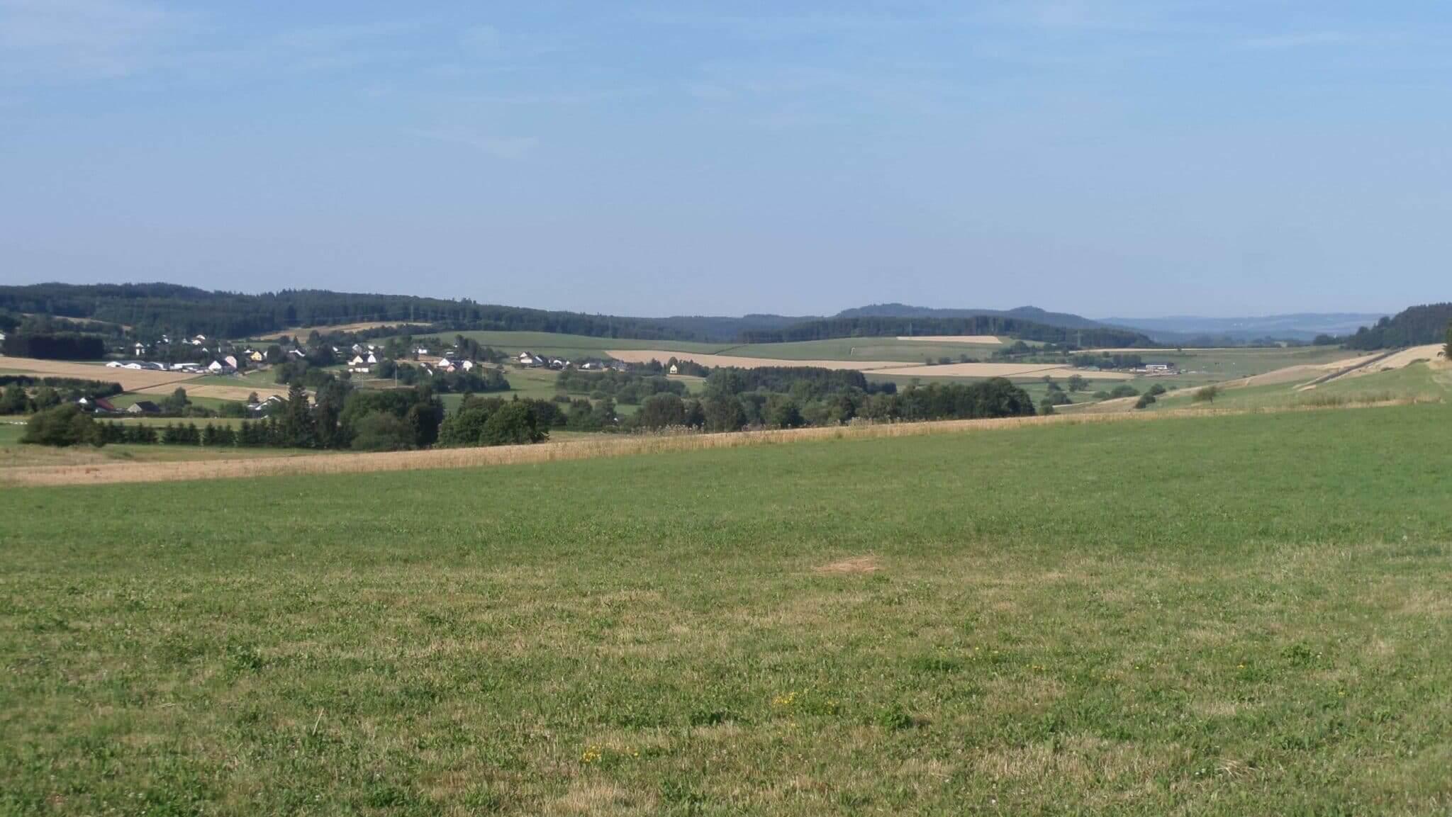 Paysage du voyage à vélo Alsace-Liège