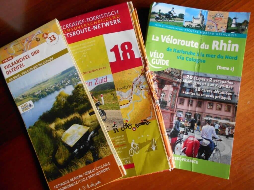 Les cartes du voyage à vélo Alsace-Liège